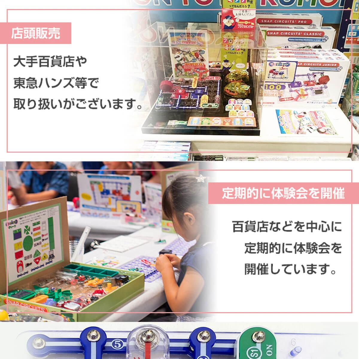 百貨店や小売り、展示会も定期的に実施
